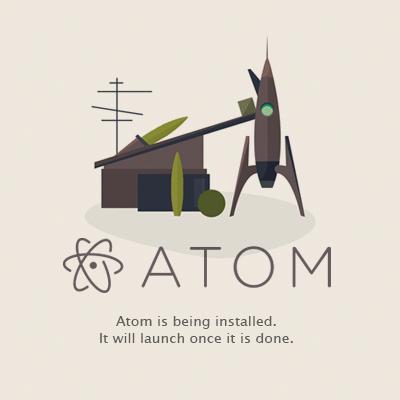 Atomエディタのインストール