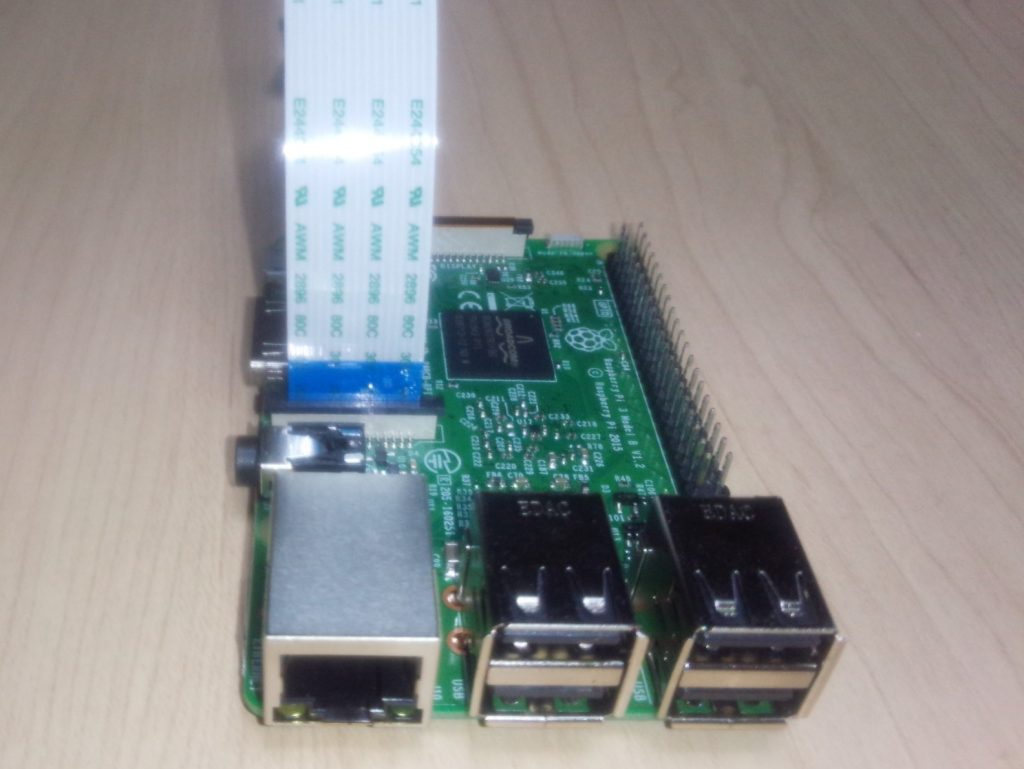 Raspberry Pi カメラ接続