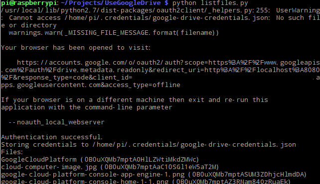 Google Drive API OAuth 2.0 by Python